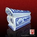 azul e branco da porcelana de alta qualidade cerâmica caixão funeral de preços por atacado
