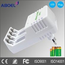 Portable Plug in AA AAA 9V Nimh Nicad Alkaline Battery Charger
