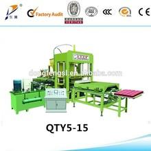 QTY5-15A cement brick making machine with low capacity/modern block making machine