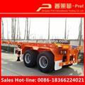 De China 2 ejes esqueleto de tipo pies de contenedores tractor remolque transporte de venta