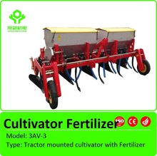 Tractor mounted cultivator with Fertilizer