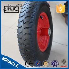 "16"" alibaba express wheelbarrow pneumatic wheel 4.00-8 horse carriage wheels"
