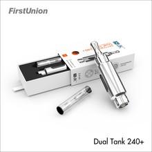 Good vaporizer Dual tank 240+ dual coils mixed flavor smoke vaporizer pen