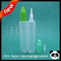 China 2015 New ! 30ml pen design bottle for Electronic Cigarette oil long tips mix color New child proof cap