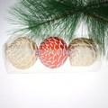 2014 artículo caliente! 60 mm de plástico del cono del pino del ornamento de la navidad