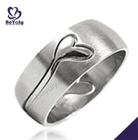 Smart engraved shiny wholesale stainless steel adjustable rings