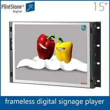 FlintStone 15 inch advertising lcd screen,usb media player,latest technology lcd panel