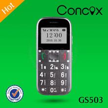 Convenient Support GPS+LBS GSM 850/900/1800/1900 MHz Quad-band GPS Senior Phone GS503 Concox