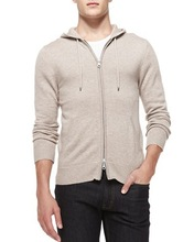 cashmere/cotton zip hoodie mens sweater 2015 high fashion cheap wholesale mens sweater China supplier cardigan for fashion men