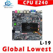 Hot sale E240 Desktop Board E240 Industrial Motherboard atom E240 POS mainboard support Linux OS Ubuntu