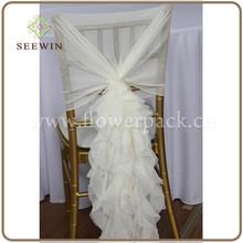 hot sale 2015 Fancy Chiavari chair covers Wedding Ruffled Chair Covers ,chair hood cover