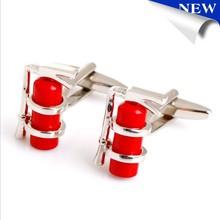 2015 Red Fire Extinguisher Cufflinks Men's Shirt Cuff Jewelry