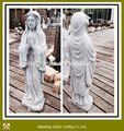 gris pierre de granit sculpté à la main déesse sculpture