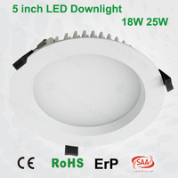 "Hot new!!! CE SAA RoHS listed 25w 5"" led downlights dimmable ip44 3 years warranty industrial cage light fixture"