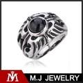 la moda y de alta calidad 316l de acero inoxidable de ópalo y ruby ring