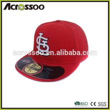 Popular cotton twill sports team 3d embroidery flat brim baseball cap