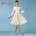 2015 primavera princesa vestidos de Chiffon meninas vestido de renda Designs moda falso duas peças de manga comprida de importação da China roupas 5359