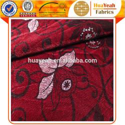 Flocking indian wholesale upholstery fabric sofa nylon fabric