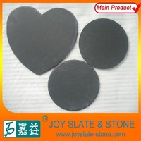 Round/Heart shaped black slate dishes cheap dinner cake plates for wedding decoration