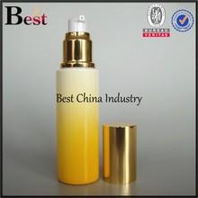 wholesale new vintage yellow refillable glass perfume bottles;hot sale thick bottom pump spray perfume bottles-50GRAM