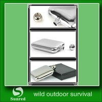 popular new arrival stainless steel hip flask birthday gifts