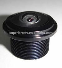 1/3 image thermal ccd sensor 185 degree fish eye lens 1.3MegaPixel focus 1.58mm F2.0 fixed iris aperture m12 mount Fish eye Lens