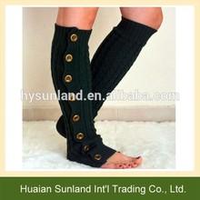 W-1148 Women Boot Cuffs Socks/Handcrafted Crochet Women Knee High Boot Cuffs Boot Socks Leg Warmer With Button Up