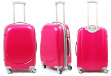 Custom design Girls Red ABS + PC Trolleys luggage carry on bags