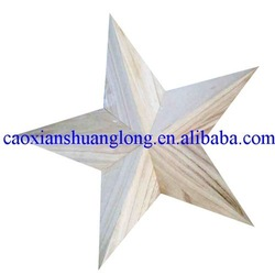 decorative nude wooden stars wholesale