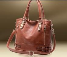 2014 New Design Fashion cowhide women's leather handbag messenger bag vintage women's motorcycle genuine Handbags shoulder bag