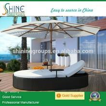 Hot Sale Modern Rattan Garden Patio sun bed,Aluminum garden furniture greece