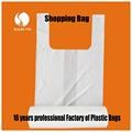 Claro/blanco baratos t- shirt bolsa de plástico para ir de compras