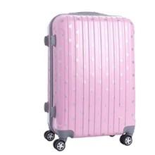 Cute Pink Girl Waterproof ABS PC garment bag suitcase