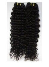 top quality natural black deep wave double drawn european hair