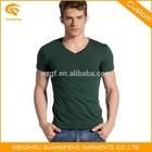 V Neck Short Sleeve T Shirt, Deep V Neck T Shirt, Men White V Neck T-Shirt