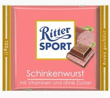 Ritter Sport chocolates from Germany