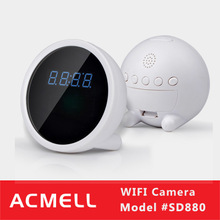 SD880 HD 720P Hot Sale Clock Style nano wifi ip camera, low cost wifi ip camera