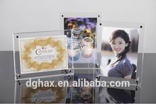 Acrylic photo frame ACR3005; clear acrylic frame ; classic photo frame with magnet