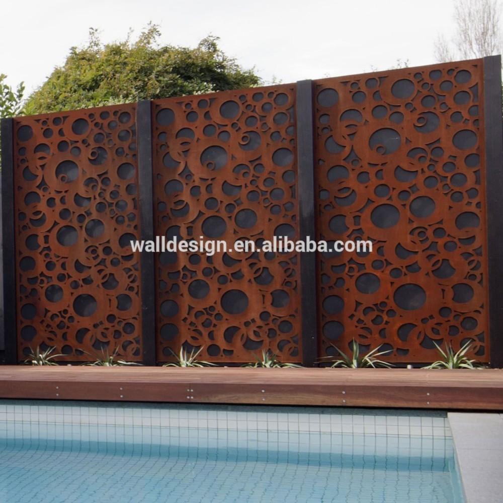 Laser decoratieve metalen tuin schermen gebruikt voor zwembad decoratie schermen en - Exterieur decoratie moderne tuin ...