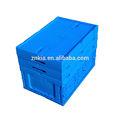 empilables en plastique boîte de rangement avec couvercle à charnière