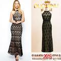 china alibaba proveedores 2015 venta al por mayor de moda de las señoras vestidos de noche sexy elegante noble mujer ropa de verano maxi vestido largo de encaje