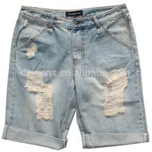 baratos gzy arrancado de mezclilla pantalones vaqueros de los hombres