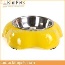 High quality pet dog bowl melamine stainless steel cat bowl