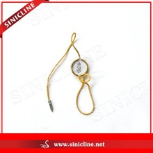 Sinicline Round Metal Seal Tag for Clothing with Gold String