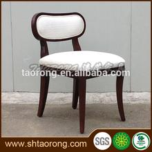 Diseño único de madera apósito de tela silla CH-490
