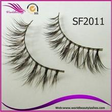 wholesale price natural brown color sable mink fur strip false eyelash