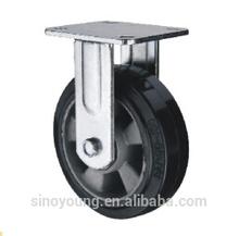 Aluminum core rubber caster wheel