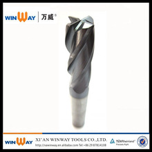 factory price 6 flute end mill for roughing matal cutting
