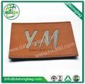 Brown couro patch / jeans PU etiquetas de patch / custom em relevo etiqueta de couro