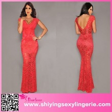 red lace nude low back evening dress for sale